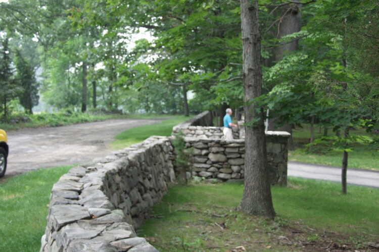 Stone Border Wall Costa Rica