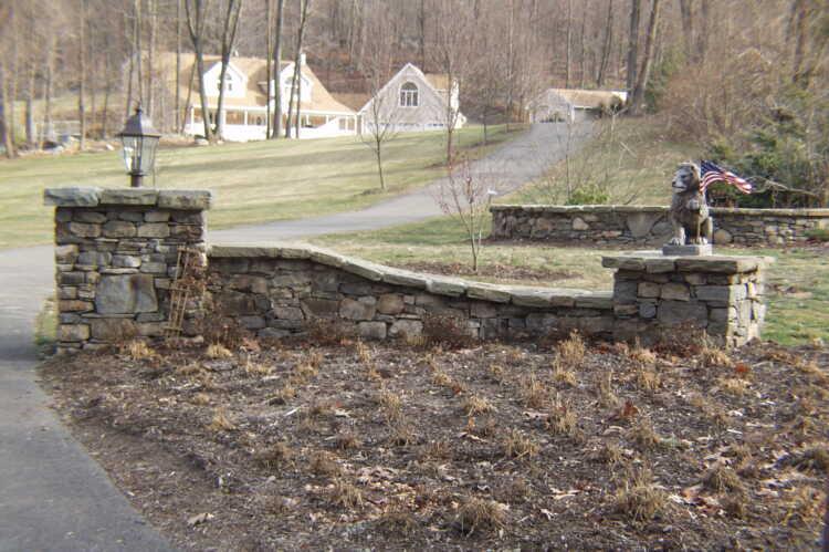 Stone Entrance Way & Pillars